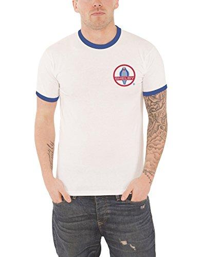 Cobra-logo-t-shirt (Shelby T Shirt Cobra Badge Logo Nue Offiziell Herren Weiß Ringer)
