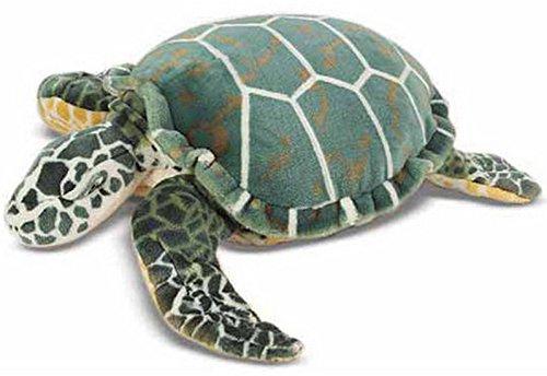 Melissa & Doug Riesen Schildkröte Turtle Kuscheltier Oversize Deko Meer Zoo Bodenkissen, 60x20x56cm, Petrol (Tiere Riesen-schildkröte)
