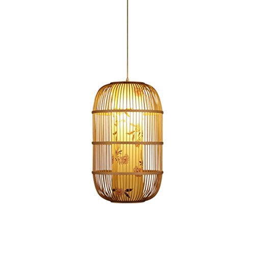 35 Fenster Schatten (Bambus Kronleuchter, Teehaus Bambus Lampe Flur Vogelkäfig Lampe Restaurant Leuchte Fenster Hängelinie Licht E27 Dekorative Projekt Kronleuchter 29-59CM Hängender Draht 150cm ( größe : 35*59CM ))