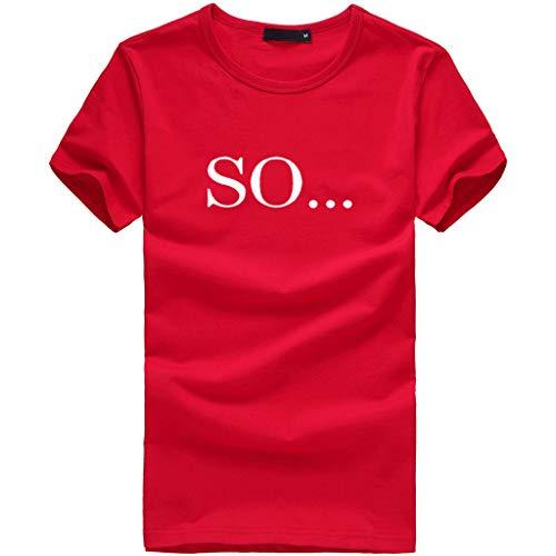 Yvelands Damen Mode T Shirt heißer Print Plus Size Kurzarm Pullover ()