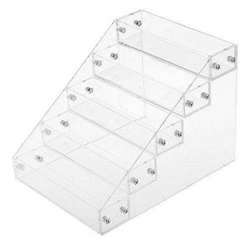 Sharplace Etagère Acrylique à 5 Etages Arrangement 25 Bouteilles Cosmétiques Présentoir Vernis à Ongle