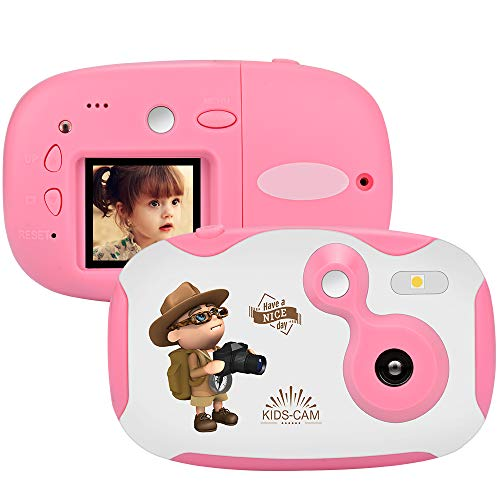 weton Kinder Kamera, 1,44 Digital Videokamera Kreative DIY Kamera FÜR Kinder Mit Silikon SchutzhÜLle 1080p HD Sport Mini Kamera Lernen FÜR Jungen Mädchen - Hd-rechner