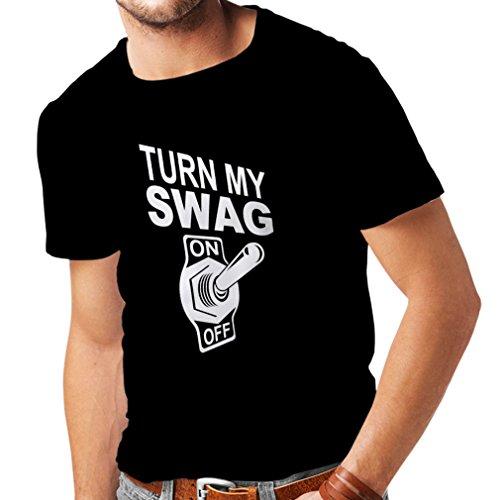 N4168 SWAGlustiges Geschenk, T-Shirt Schwarz Weiß