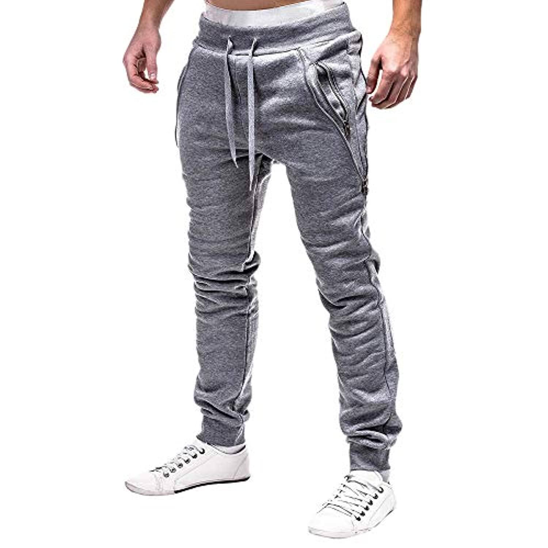 Subfamily-Pantalon Zippés Homme Pantalons de Sport Homme Sarouel ... 5ca56145696