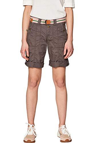 edc by ESPRIT Damen 039CC1C001 Shorts, Grün (Khaki Green 350), W38(Herstellergröße: 38)