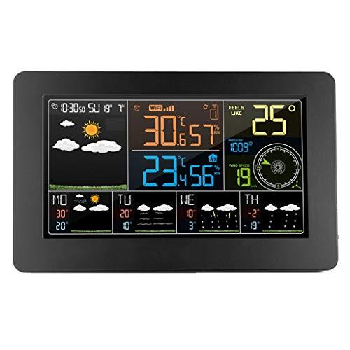 XF-B WiFi Wetterstation Wand Digital Wecker Thermometer Hygrometer Zukünftige Wettervorhersage Windrichtungsbarometer