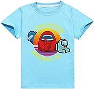 Among Us - Camiseta de Manga Corta para niños, diseño de Camiseta de Manga Corta Unisex Camiseta Estampada Hom