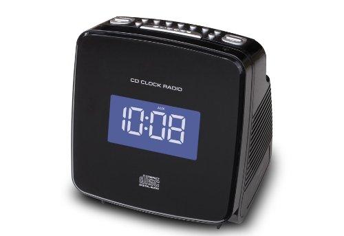 Soundmaster URD810IPH PLL-Uhrenradio mit MP3-CD/Apple iPod/iPhone Docking/Superkompakt