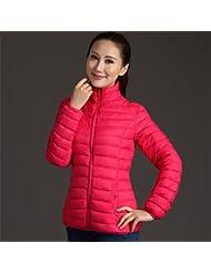 WJP mujeres ultra ligero de la chaqueta poco voluminoso abajo Outwear amortiguar por la chaqueta W-1361