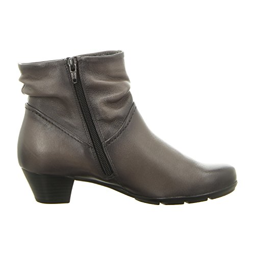 Gabor 55-637 Schuhe Damen Stiefeletten Ankle Boots Best Fitting Zinn