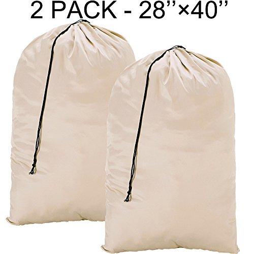 BGTREND Bolsa de lavandería extra grande (2 unidades, 71,1 x 101,6 cm), lavable a máquina, resistente material antidesgarros con cierre de cordón