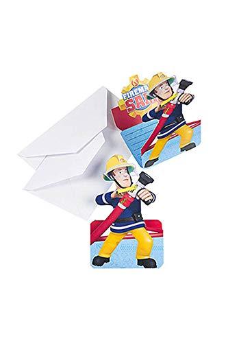 Amscan International Feuerwehrmann Sam Einladungskarten und Umschläge
