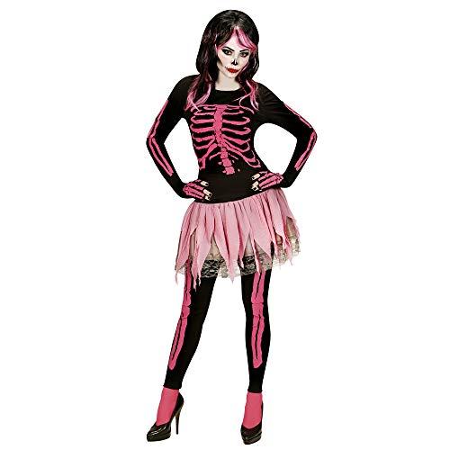 chsenenkostüm Pink Skelett, Shirt, Hose, Tutu und Fingerlose Handschuhe, Größe L ()