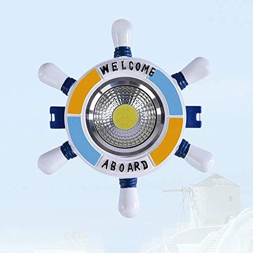 Kinderzimmer Downlight Mittelmeer Cartoon Ruder Einbaustrahler COB Spot Light Embedded Aluminiumharz Dekoration Beleuchtung Warmweißes Licht 3000K (Color : Clear-3w) -