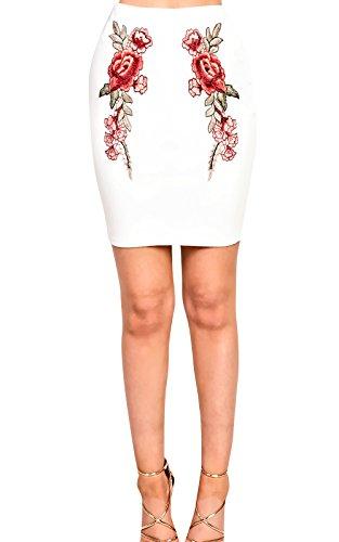 Women Ladies Stunning Glam Embroidered Co-Ordinate Set white
