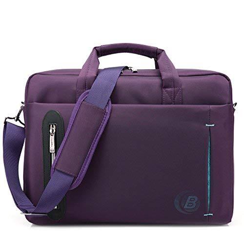 CoolBELL Laptop-Tasche. 39,6cm, mit Schultergurt, Aktentasche aus Nylon mit vielen Fächern für Damen/Herren violett violett 17.3 Inches