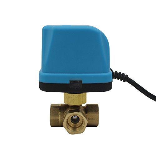 kugelhahn zonenventil 3 wege ventil elektrisch DC 5V 12V 24V 1/2 3/4 1 1-1/4 1-1/2 zoll (DC 24V, 1 zoll DN25) ()