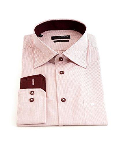 Seidensticker -  Camicia classiche  - A quadri - Classico  - Uomo Rouge - Rouge