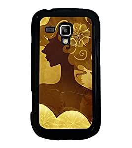 Fuson Designer Back Case Cover for Samsung Galaxy S Duos S7562 (in the hair creativity antique hair style)