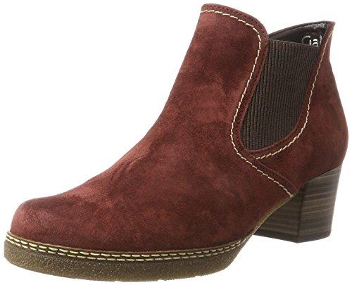 Gabor Shoes Damen Comfort Basic Stiefel, Rot (38 Wine (S.MA/MI)), 38 EU Grüne Leder Stiefel