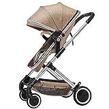 CDREAM Kinderwagen Zusammenfaltbar Baby Carriage Ab 0 Monate Bis 20 Kg Reise Buggy Mit Liegeposition Und Klappbar Baby Wagen,Brown