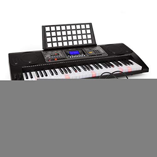 Schubert Etude 450 • Lern-Keyboard mit Notenständer und Kopfhörer • 61 Tasten (5 Oktaven, C2 - C7) • USB-MIDI-Player • LCD-Display • 460 Stimmen • 260 Begleitrhythmen • 65 Demo-Songs • Trainingsfunktion mit 3 Lernmodi • lichtgesteuerter Tastatur • schwarz