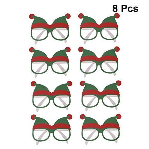 Amosfun 8 stücke neuheit Urlaub gläser kreative lustige Brillen kostüm Party Brillen frohes neues Jahr Feier Partei liefert Dekoration für Kinder und Erwachsene (Neue Jahre Party Kostüm)