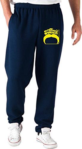 Jogginghose Blau Navy FUN1256 Dont Touch Mustache Square Coaster Navy Coaster