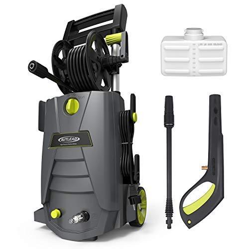Idropulitrice, Autlead HP02A 1800W 140 Bar 468 L/H Idropulitrici ad Alta Pressione, con elevata capacità di pompaggio, pulitore elettrico, impugnatura robusta e avvolgitubo, per casa, giardino, auto