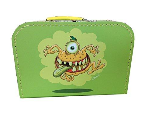 Valise en carton vert avec monstre 30 cm