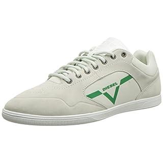 DIESEL Men's Happy Hours S-AARROW Sneaker, Dirty White, 7.5 UK