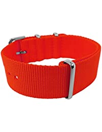 Cool Color Edition Natoband Bruno Banani Nylon Band 20mm CCE, Farbe:rot