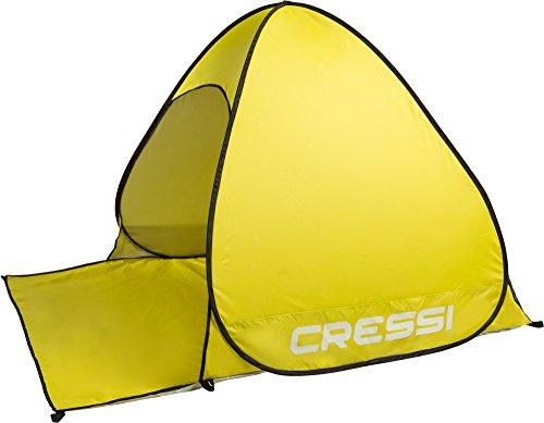 Cressi xva800010 tenda da spiaggia, unisex, giallo, taglia unica