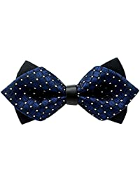 bow Tie - SODIAL(R) Wedding Party Fashion Festival staple Adjustable Fancy Tie Bow Tie (Navy)