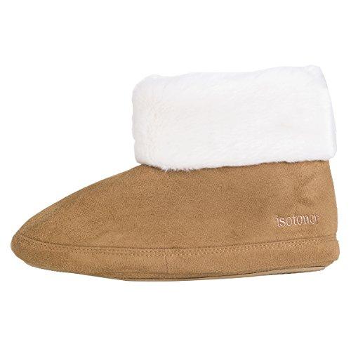 Isotoner, Pantofole donna (Kamel)