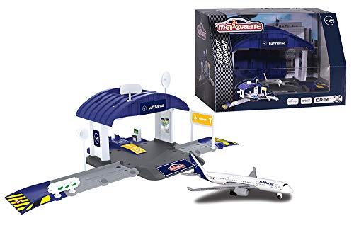 Majorette 212050017 - Creatix Airport Lufthansa Hangar, Service Station mit Zubehör
