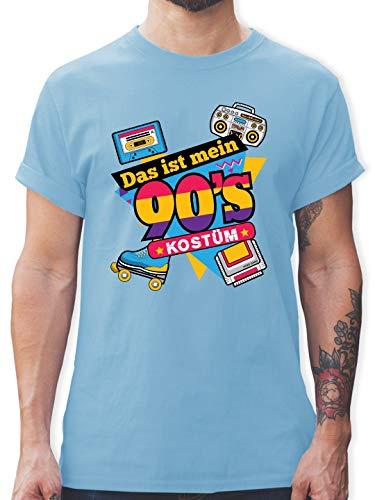 Karneval & Fasching - Das ist Mein 90er Jahre Kostüm - XXL - Hellblau - L190 - Herren T-Shirt und Männer Tshirt (Kostüm Ideen Gruppe 3)