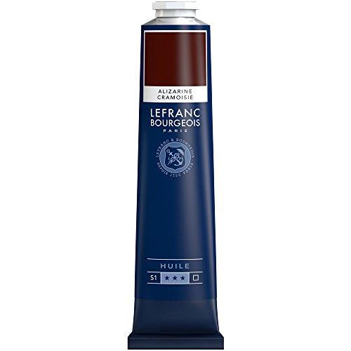 Lefranc & Bourgeois-Pintura al óleo (geschmeidige & Alto pigmentos Pintura al óleo, Alizarin Karmesin Permanent, 150 ML