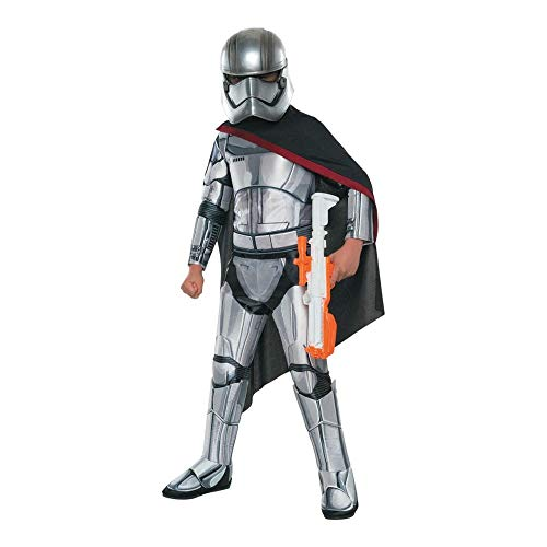 Dress Kostüm Lumiere Fancy - Generique - Captain Phasma-Lizenzkostüm für Kinder Star Wars grau-schwarz 116 (5-6 Jahre)