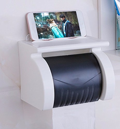 PEIWENIN-Toilette WC-Papier Handtuch Box Sauger Toilettenpapier Fach freie Loch Sauger Wand Rollen Papier Rohr kreative wasserdichte WC Toilettenpapier Rack, einfügen