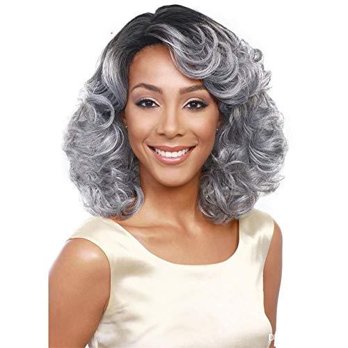 Perücken Kostüm Perücken Europäische Und Amerikanische Afrikanische Mode Oma Grau Kurzes Gelocktes Haar Chemische Faser Hochtemperaturseide Benutzerdefinierte Unterstützung Grenzüberschreitend