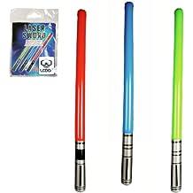 Lot de 2 sabres lasers gonflables vert, bleu ou rouge
