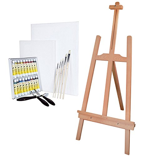 artinar-childrens-painting-art-set-for-kids-ready-to-use-table-easel-with-paints-canvases-brushes-an
