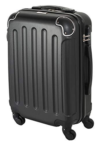 CABIN GO MAX 5571 - Trolley rigido in ABS grande valigia con ruote, 55 cm utilizzabile come bagaglio a mano di dimensioni standard
