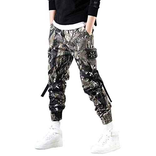 Herren Camouflage Slim Fit Cargo Chino Hose Pocket Männer Overalls Sport Arbeit Hosen Sporthosen Jogginghose Freizeithosen Vintage Fitnesshose Outdoors Trainingshose Sweatpants (Schwarz.M) Floral Print Knit Dress