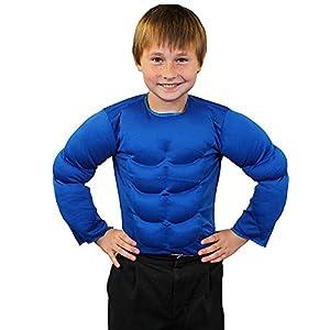 ILOVEFANCYDRESS Childrens superhéroe músculos en el pecho parte superior