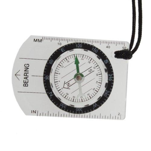 Sonline Instrument de mesure de carte pour camping Blanc Mignon