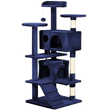 """Yaheetech – Árbol de Gato Torre Condo de 51,2"""" para Muebles rascador Poste Gatitos casa Mascota Juego"""