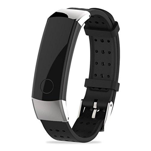 squarex Sport Silikon Armband Gurt Band für Huawei Honor 3Smart Watch, Damen, Silber, AS Show