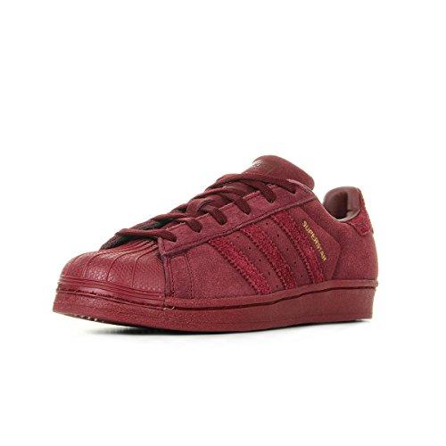 pretty nice 2cde9 bc41c adidas Superstar J, Zapatillas de Deporte Unisex niños, Rojo Buruni, 37 1